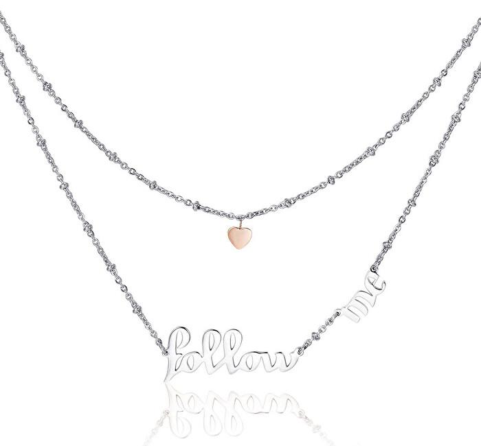 Brosway Oceľový náhrdelník Follow Me Script BRP03
