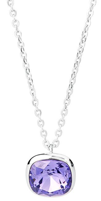Brosway Oceľový náhrdelník s kryštálom Swarovski N-Tring BTN37