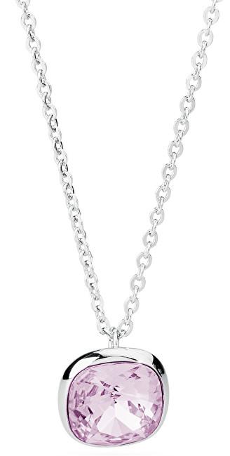 Brosway Oceľový náhrdelník s kryštálom Swarovski N-Tring BTN38