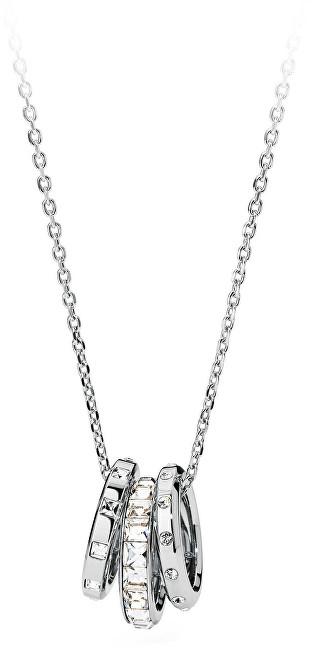 Brosway Oceľový náhrdelník s trblietavými prívesky Enchant BEN01