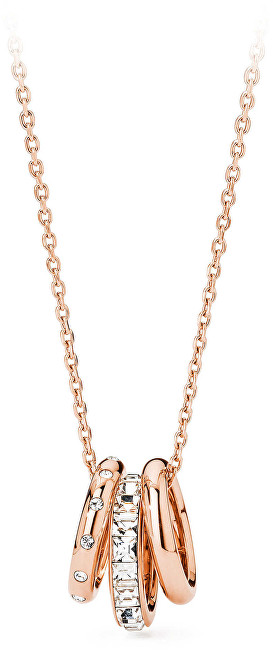 Brosway Oceľový náhrdelník s trblietavými prívesky Enchant BEN06