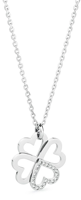 Brosway Oceľový náhrdelník so štvorlístkom C-lover BOV02