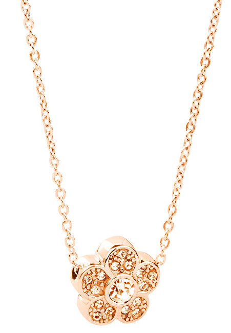 Brosway Oceľový náhrdelník s kytičkou Epsilon BEO08