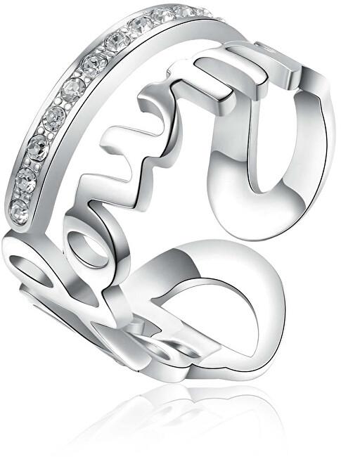 Brosway Ocelový prsten Follow Me Script BRP33 50 mm