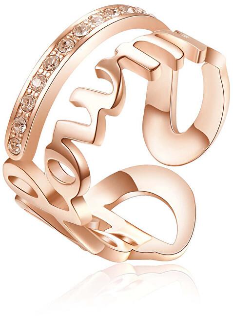 Brosway Ocelový prsten Follow Me Script BRP34 50 mm