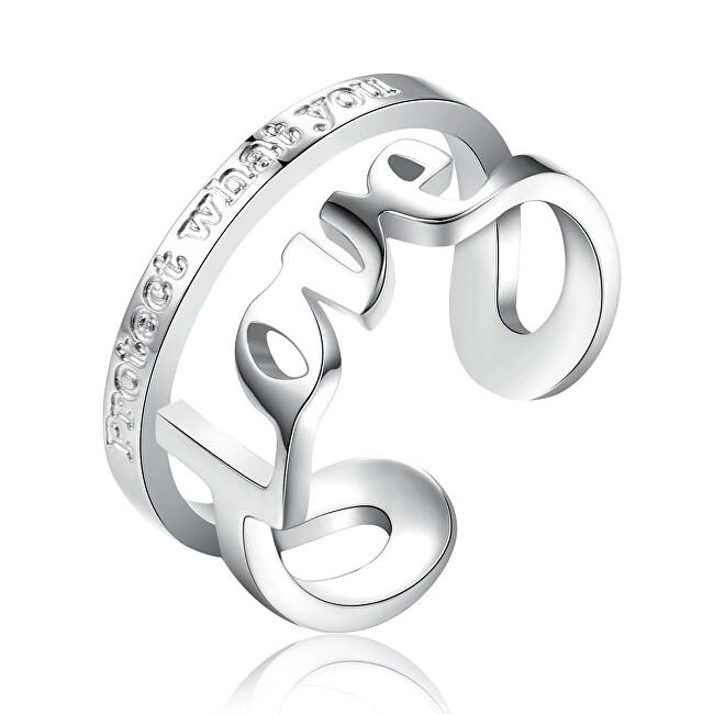 Brosway Ocelový prsten Love Script BRP31 50 mm