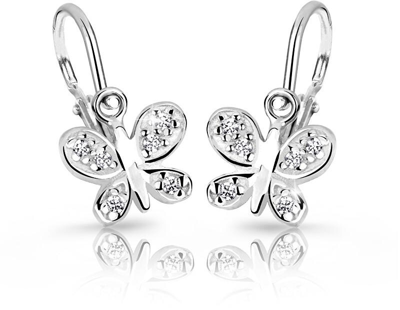 Cutie Jewellery Detské náušnice C2748-10-X-2 bílá