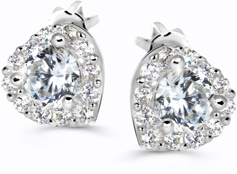Cutie Jewellery Krásne trblietavé náušnice Z60231-30-X-2 bílá