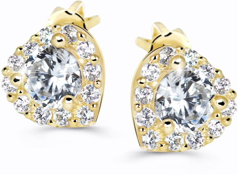 Cutie Jewellery Krásne trblietavé náušnice Z60231-30-X-1 bílá