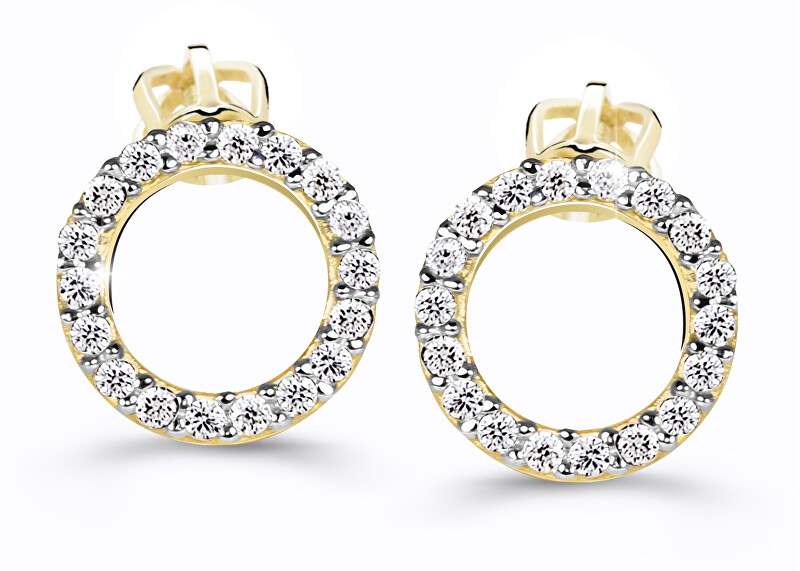 Cutie Jewellery Úžasné kruhové náušnice Z60240-30-X-1 bílá