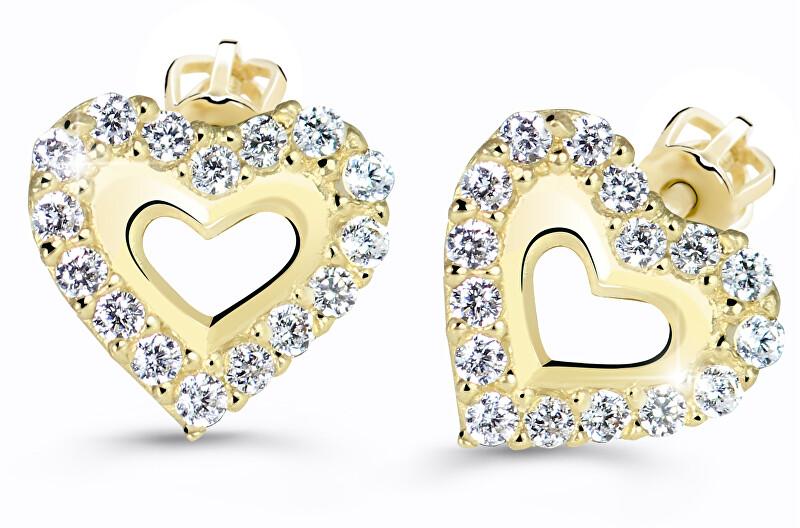 Cutie Jewellery Srdiečkové náušnice Z60213-30-X-1 bílá