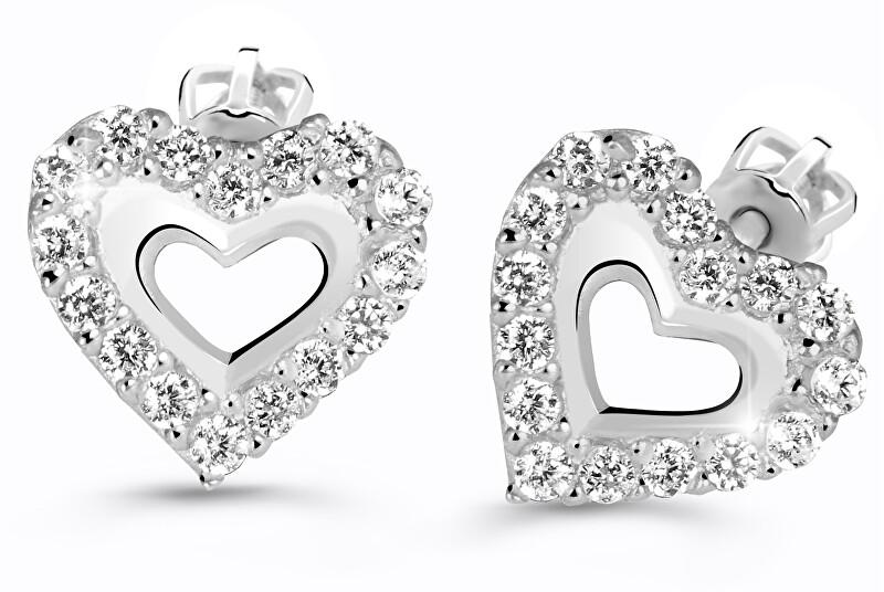 Cutie Jewellery Srdiečkové náušnice Z60213-30-X-2 bílá