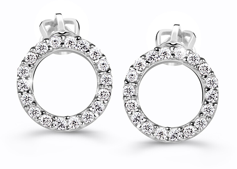 Cutie Jewellery Úžasné kruhové náušnice Z60240-30-X-2 bílá