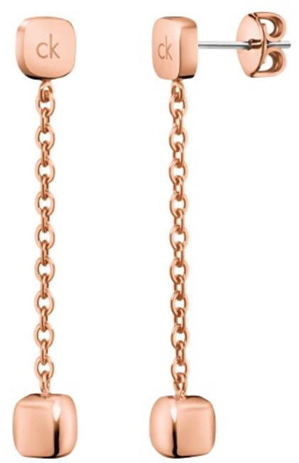 Calvin Klein Dlhé bronzové náušnice Side KJ5QPE100100