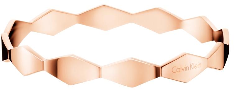 Calvin Klein Pevný růžově zlatý náramek Snake KJ5DPD1001 65