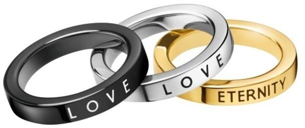 Calvin Klein Sada prsteňov 3v1 Hook KJ06JR3901