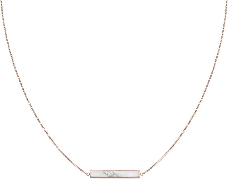 Cluse Bronzový náhrdelník s mramorovaným príveskom CLJ20009