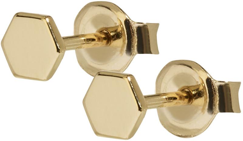 Cluse Hexagonové pozlacené náušnice ze stříbra CLJ51006
