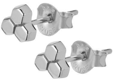 Cluse Hexagonové stříbrné náušnice CLJ52017