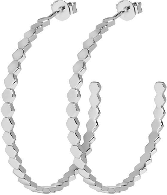 Cluse Kruhové náušnice složené z hexagonů CLJ52008