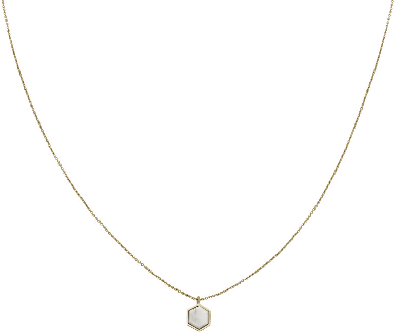 Cluse Pozlacený náhrdelník s hexagonem CLJ21008