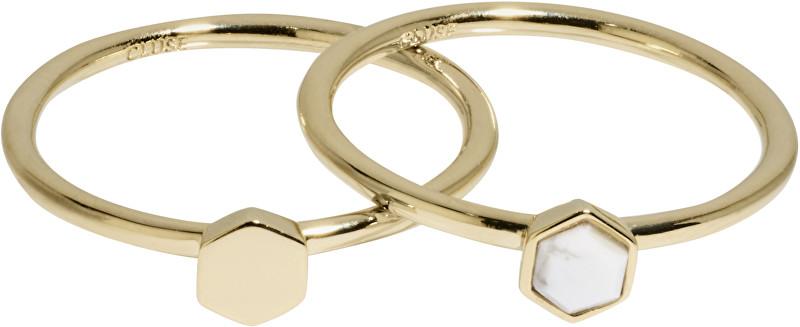 Cluse Sada dvou prstenů s hexagony CLJ41001 52 mm