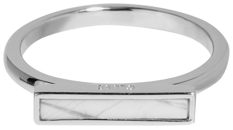 Cluse Stříbrný prsten s mramorovou platformou CLJ42002 52 mm
