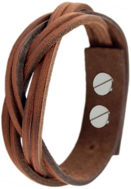Cow Style Proplétaný kožený náramek CS03-5084