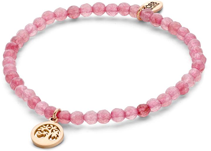 CO88 Růžový jadeitový náramek Strom života 865-180-090163-0000