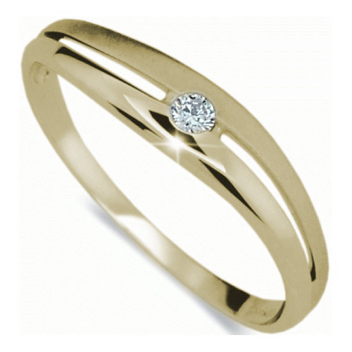 Danfil Krásný prsten s diamantem DF1661z 57 mm