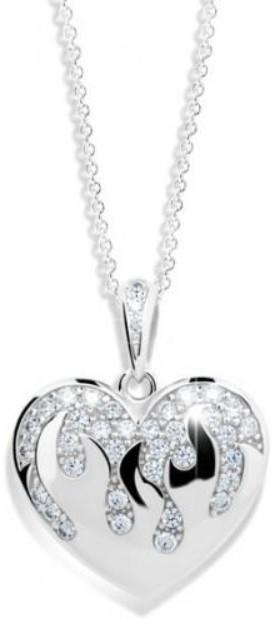 Danfil Luxusní přívěsek ve tvaru srdce DLP240310XL2b
