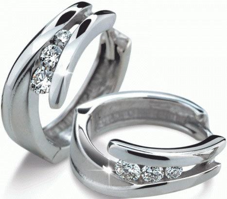 Danfil Luxusní diamantové náušnice DF1794b