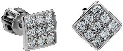 Danfil Diamantové náušnice DF2096b