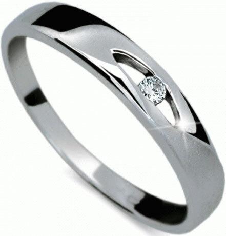 Danfil Zlatý prsten s diamantem DF1281b 49 mm