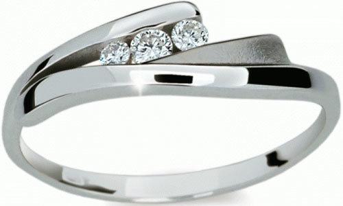 Danfil Krásný prsten s diamanty DF1750b 59 mm