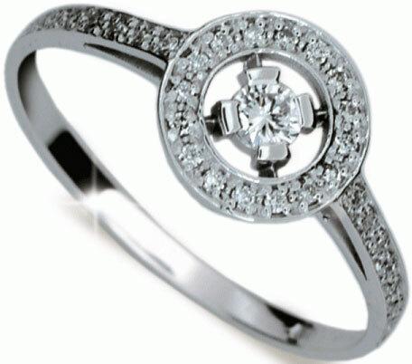 Danfil Diamantový prsten DF1990b 49 mm