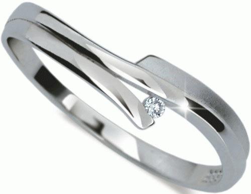 Danfil Jemný prsten s diamantem DF2000b 49 mm