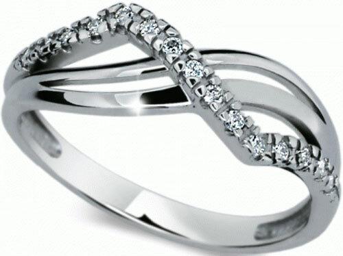 Danfil Krásný diamantový prsten DF2082b 49 mm