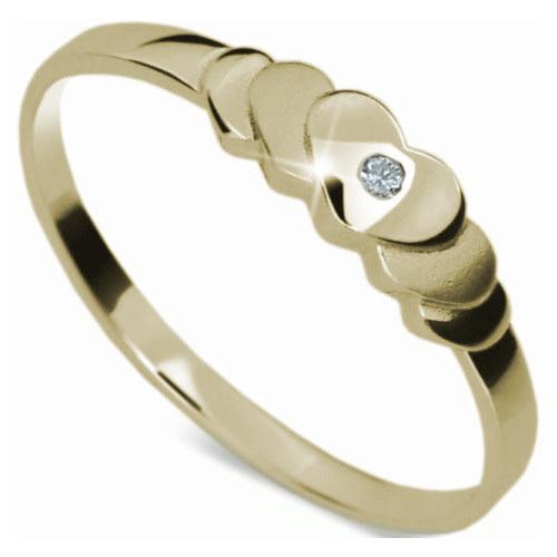Danfil Romantický zásnubný prsteň DF1876z 58 mm