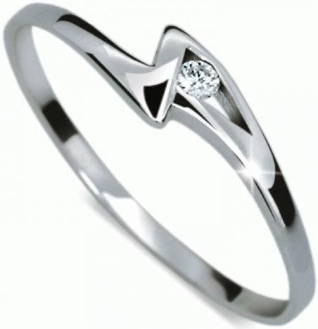 Danfil Zásnubní prsten s diamantem DF1138b 49 mm