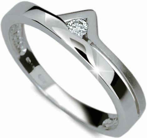 Danfil Zásnubní prsten s diamantem DF1565b 49 mm