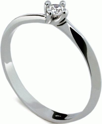 Danfil Jemný zásnubní prsten s diamantem DF1907b 49 mm