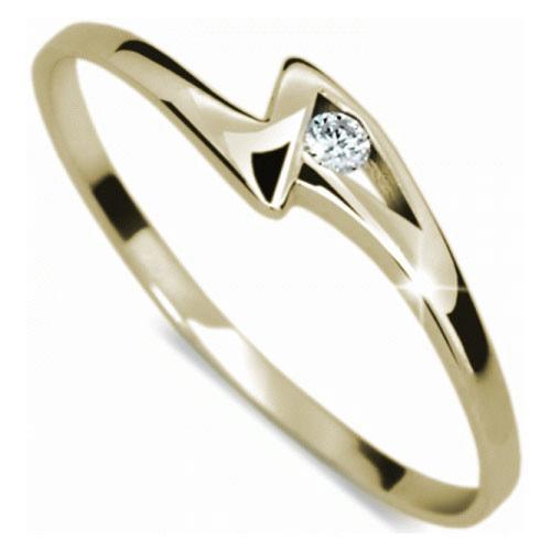 Danfil Zásnubní prsten s diamantem DF1138z 52 mm