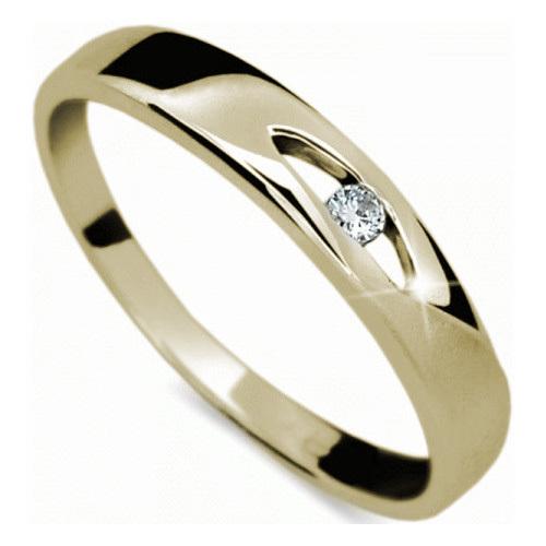 Danfil Zlatý prsten s diamantem DF1281z 52 mm