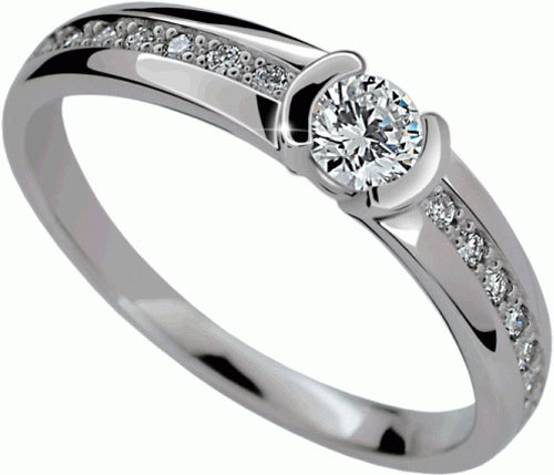Danfil Luxusní zásnubní prsten DLR2106b 49 mm