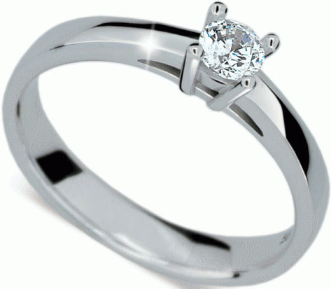 Danfil Luxusní zásnubní prsten z bílého zlata DLR1902b 49 mm