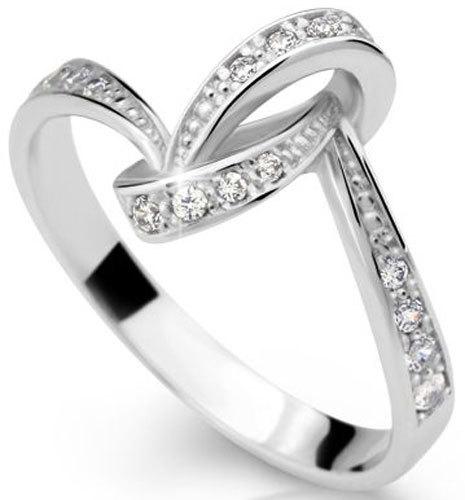 Danfil Nádherný prsten se zirkony DLR2324b 62 mm