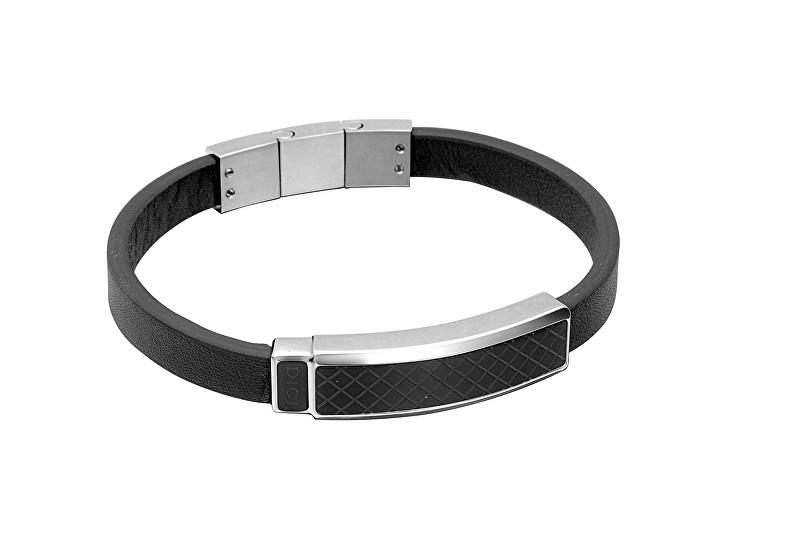 Dici Milano Kožený náramek s černým vzorem DCBR50150200