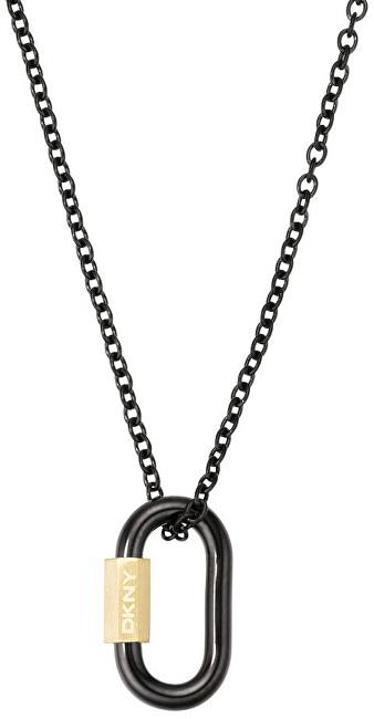 DKNY Černý náhrdelník z oceli NJ2230001