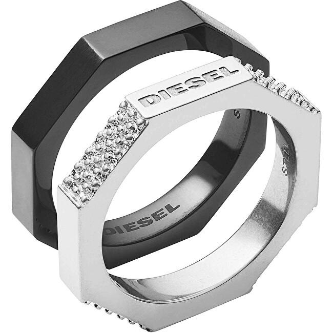 Diesel Pánská sada dvou prstenů DX1158040 66 mm